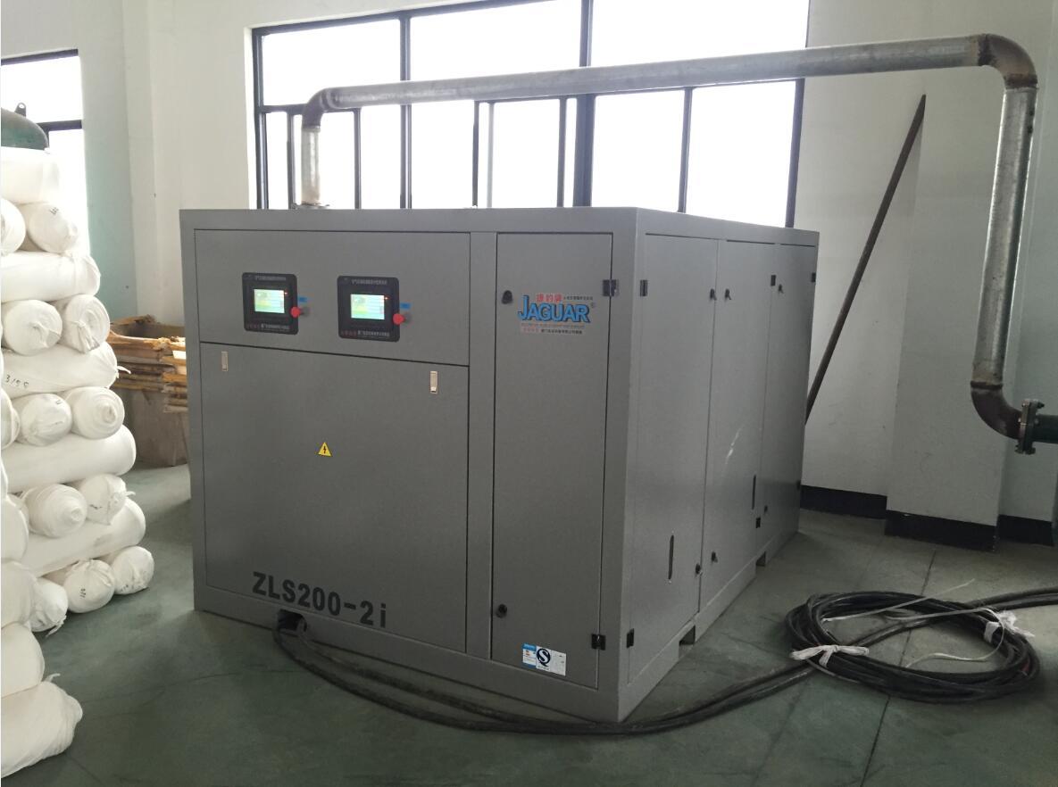 永磁变频低压大排量螺杆空压机应用现场